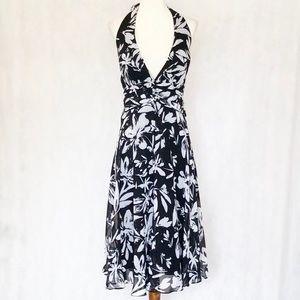 White House Black Market Chiffon Halter Dress